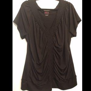 Torrid Black Short Sleeve Blouse size 2X